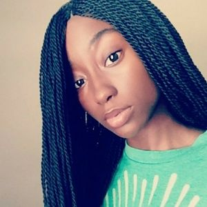 Braided Senegalese Twist Lace Front Wig